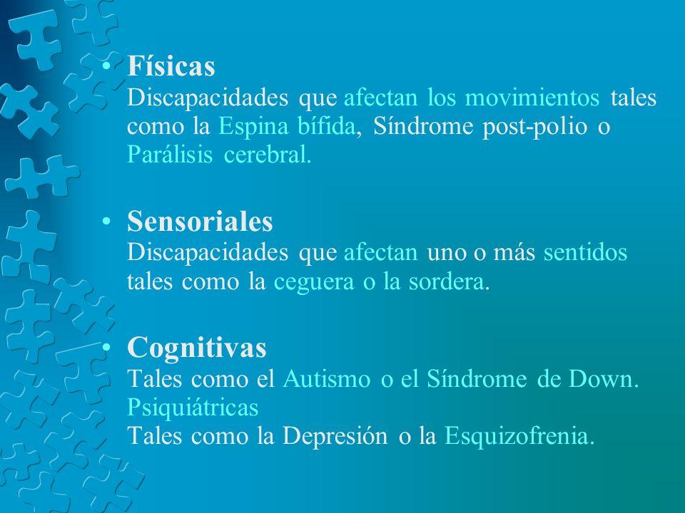 Elementos que definen una discapacidad. Discapacidad física Discapacidad sensorial Discapacidad cognoscitiva Discapacidad intelectual Las enfermedades