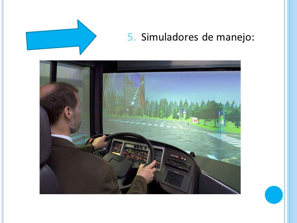 5. Simuladores de manejo: