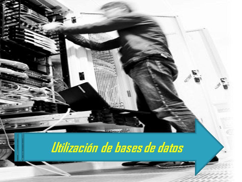 Utilización de bases de datos