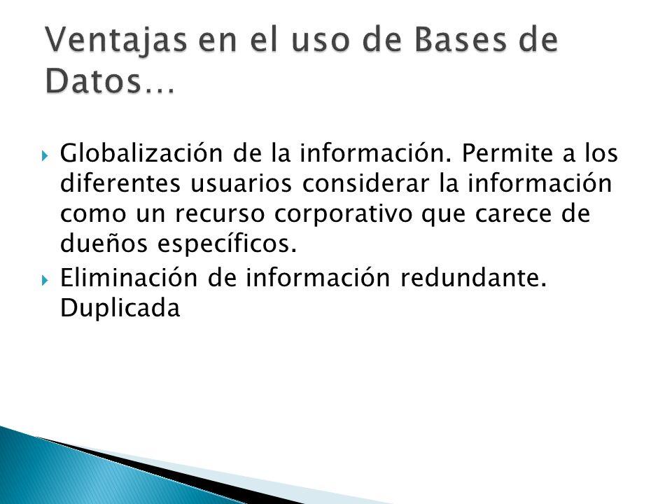 Globalización de la información.