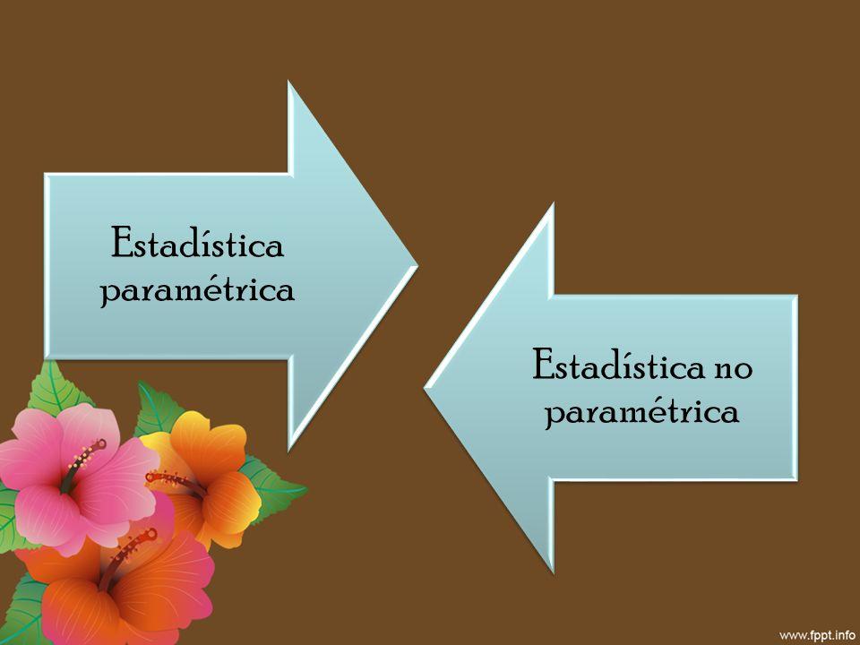 Estadística paramétrica Estadística no paramétrica