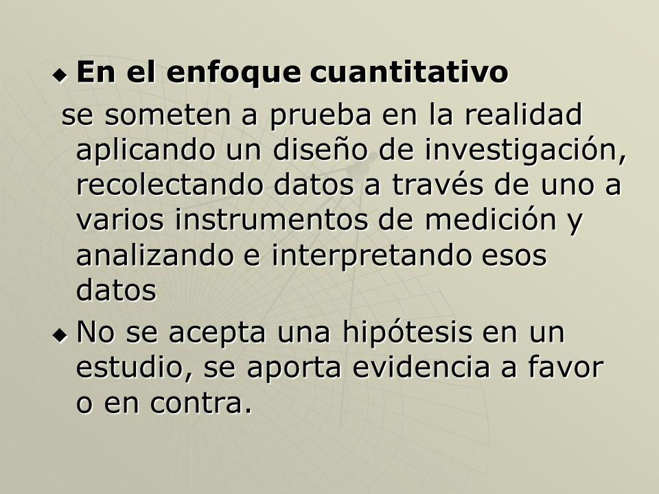 Prueba de hipótesis Enfoque cualitativo.Enfoque cualitativo.