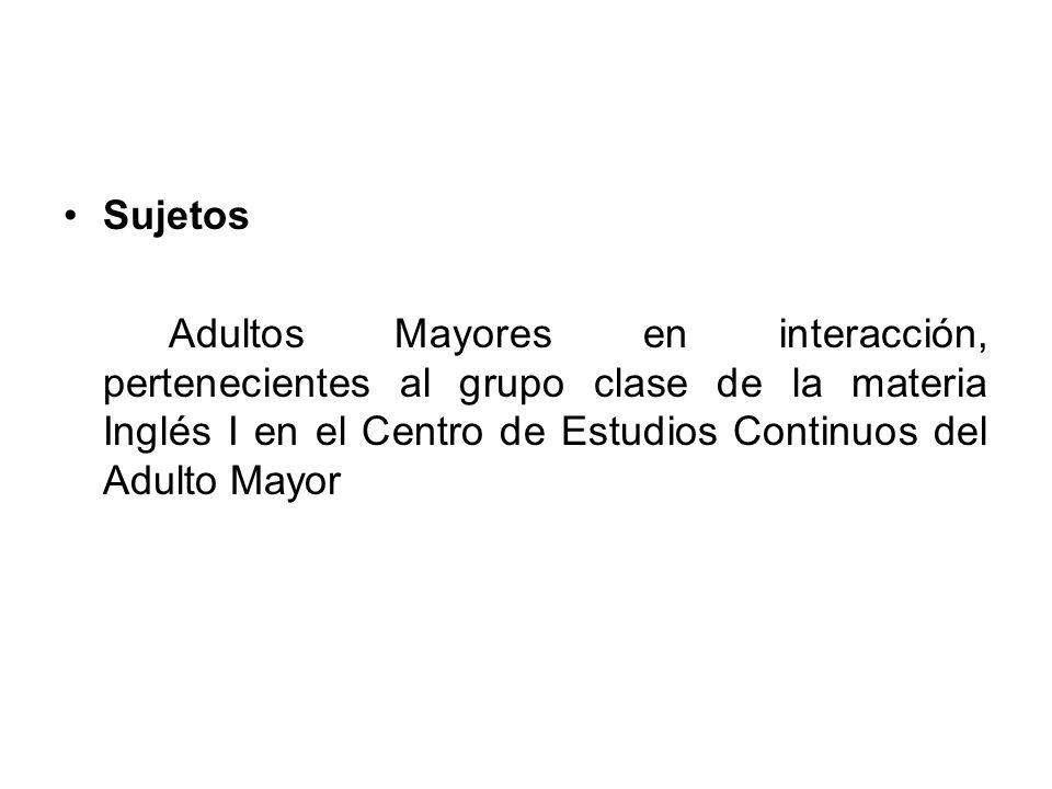 Escenario El Centro de Estudios Continuos del Adulto Mayor es una escuela pública identificada en un principio como la Universidad de Tercera Edad, está ubicada en la delegación Benito Juárez y abierta al público por la mañana y tarde.