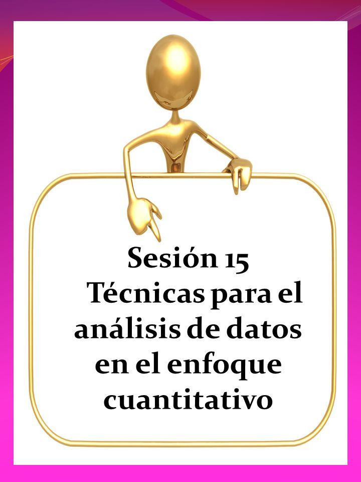Sesión 15 Técnicas para el análisis de datos en el enfoque cuantitativo