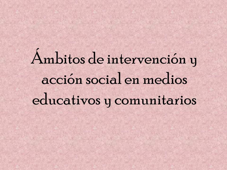 Ámbitos de intervención y acción social en medios educativos y comunitarios