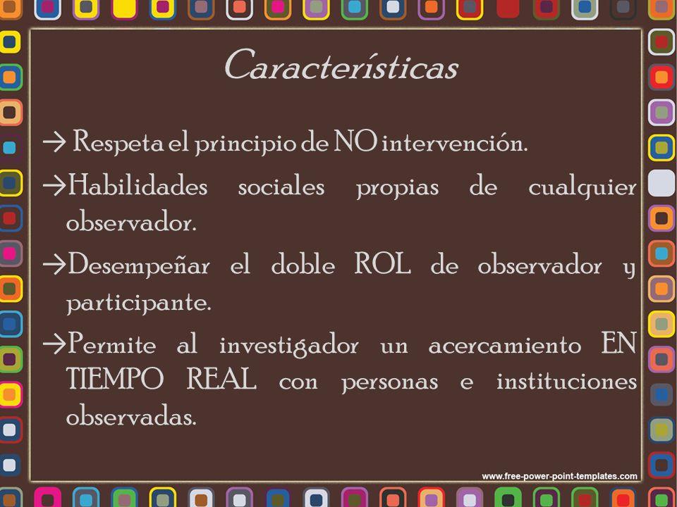 Características Respeta el principio de NO intervención.