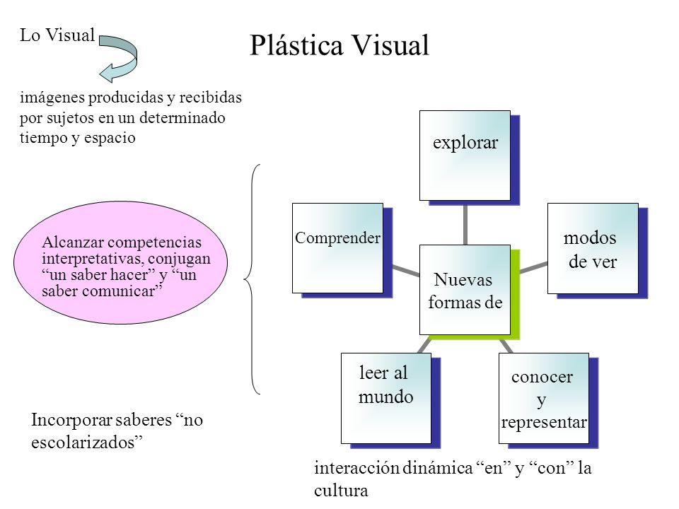 Plástica Visual Nuevas formas de explorar modos de ver conocer y representar leer al mundo Comprender Lo Visual imágenes producidas y recibidas por su