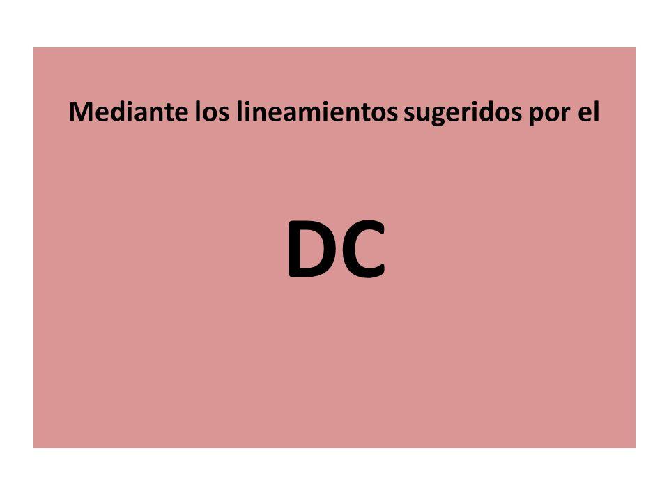 Mediante los lineamientos sugeridos por el DC