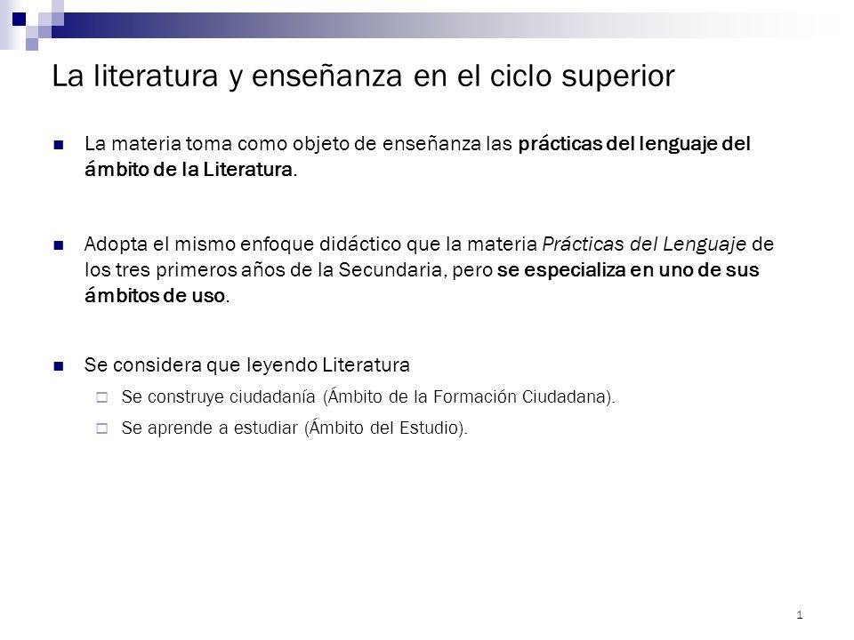 EDUCACIÓN SECUNDARIA SUPERIOR LITERATURA 6º