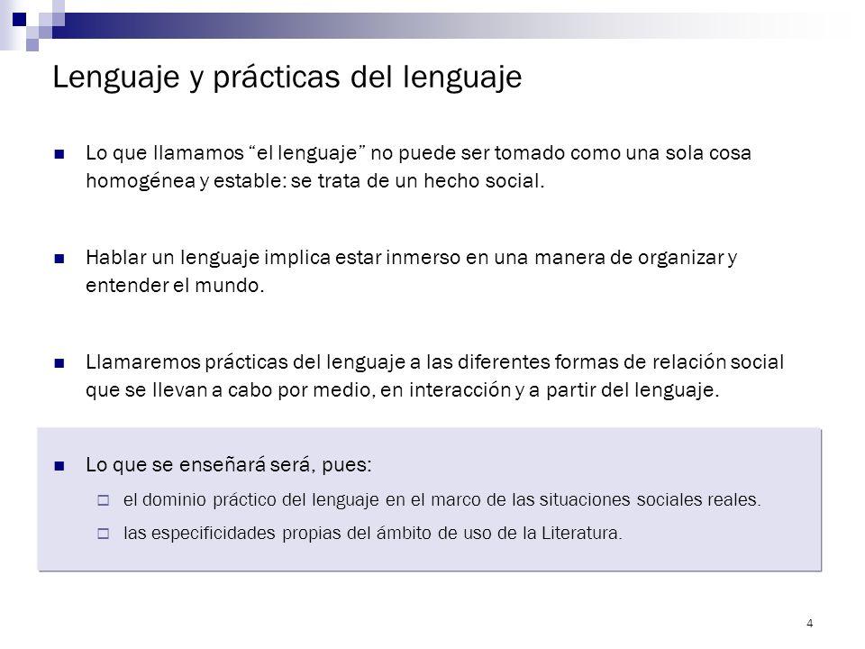 3 Criterios fundamentales para abordar los contenidos de la materia La continuidad pedagógica. Es necesario ejercer las prácticas de lectura, escritur