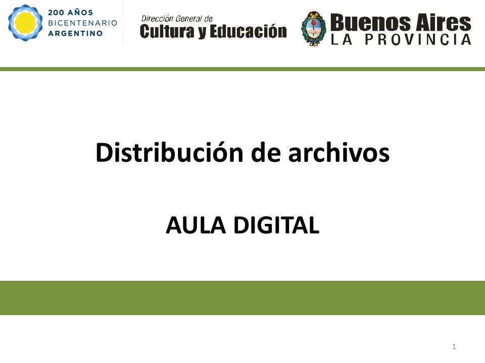 Distribución de archivos AULA DIGITAL 1