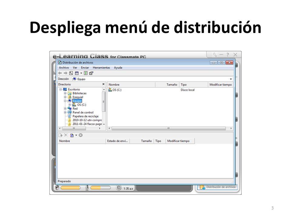 Despliega menú de distribución 3