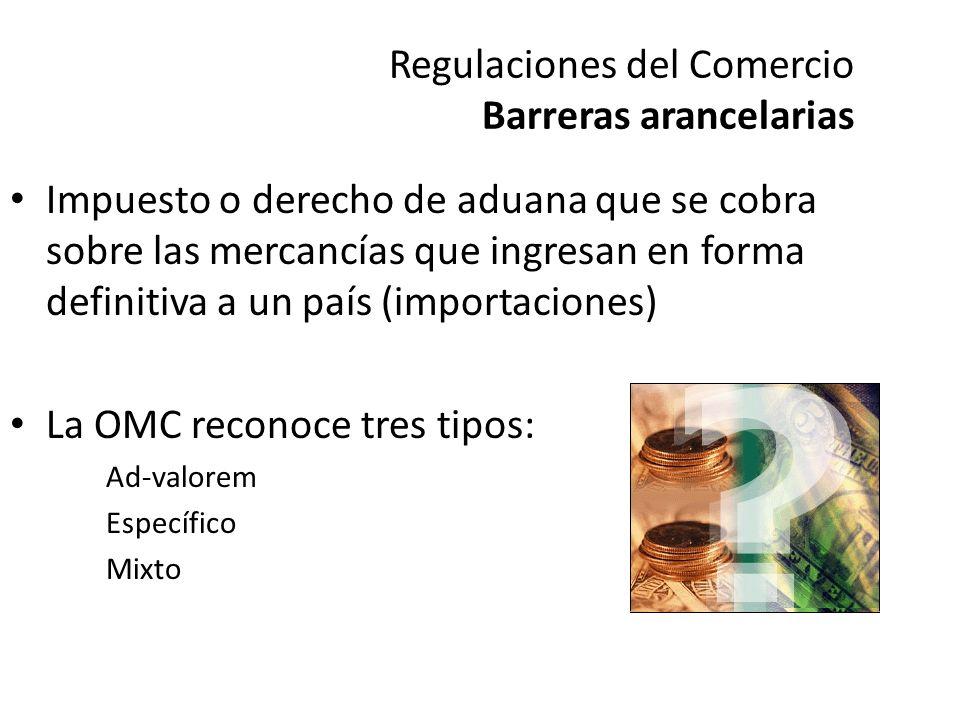 Regulaciones del Comercio Barreras Arancelarias La clasificación o codificación de los productos que se exporten, deberá basarse en el Sistema Arancelario Centroamericano, creado a partir del Sistema Armonizado.