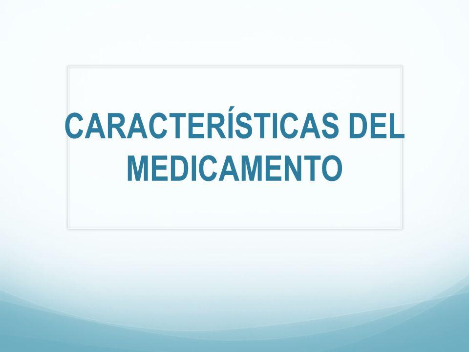 CARACTERÍSTICAS DEL MEDICAMENTO