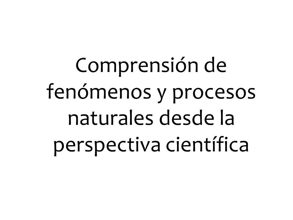 Comprensión de fenómenos y procesos naturales desde la perspectiva científica