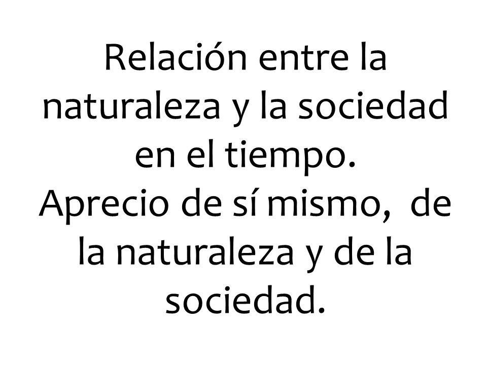 Relación entre la naturaleza y la sociedad en el tiempo. Aprecio de sí mismo, de la naturaleza y de la sociedad.