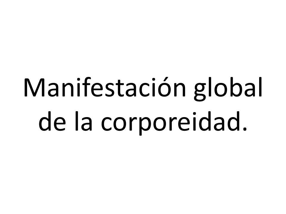 Manifestación global de la corporeidad.