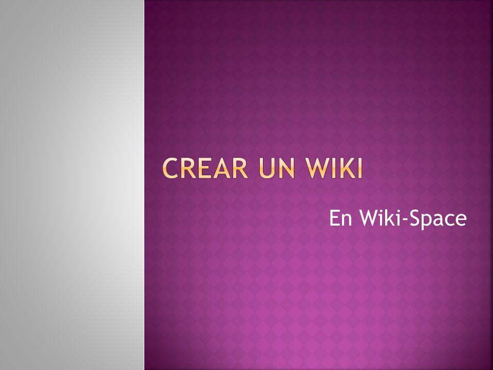 En Wiki-Space
