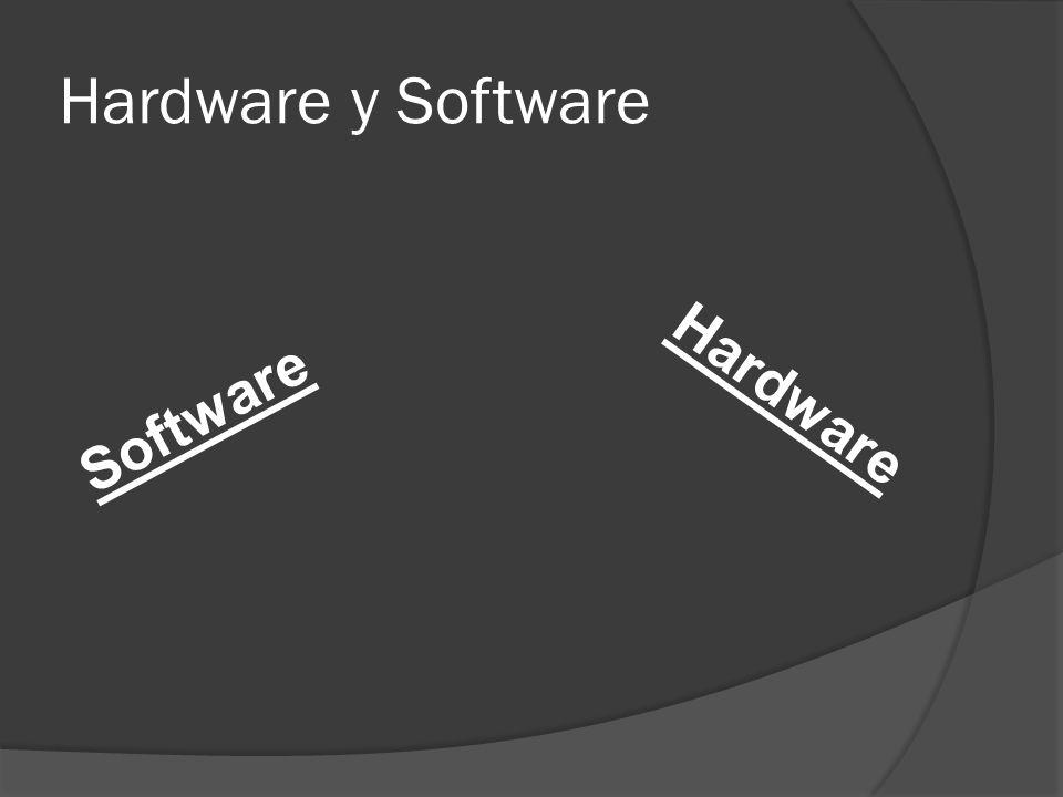 Hardware y Software Software Hardware