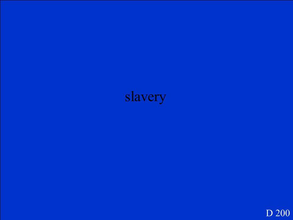D 200 ¿Qué significa la esclavitud