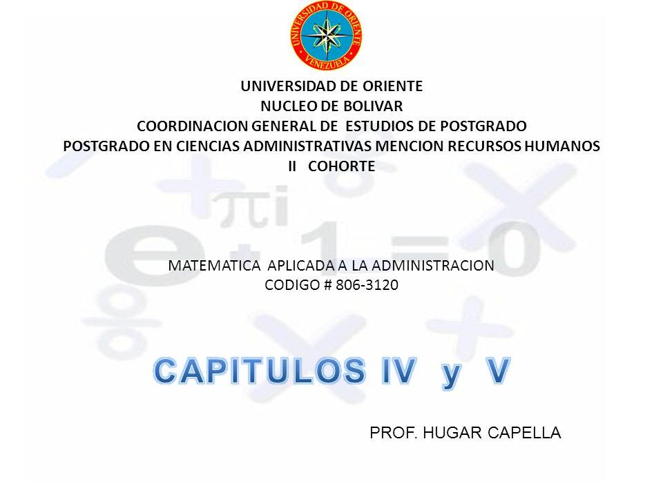 UNIVERSIDAD DE ORIENTE NUCLEO DE BOLIVAR COORDINACION GENERAL DE ESTUDIOS DE POSTGRADO POSTGRADO EN CIENCIAS ADMINISTRATIVAS MENCION RECURSOS HUMANOS