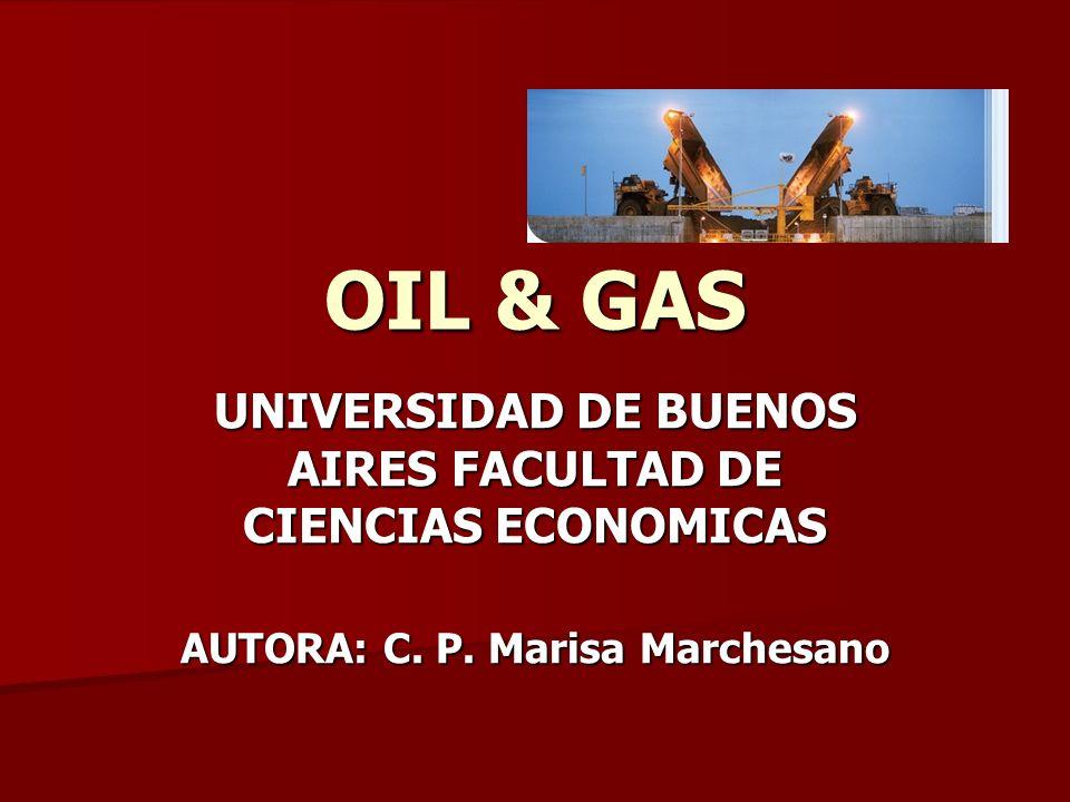 OIL & GAS UNIVERSIDAD DE BUENOS AIRES FACULTAD DE CIENCIAS ECONOMICAS AUTORA: C. P. Marisa Marchesano