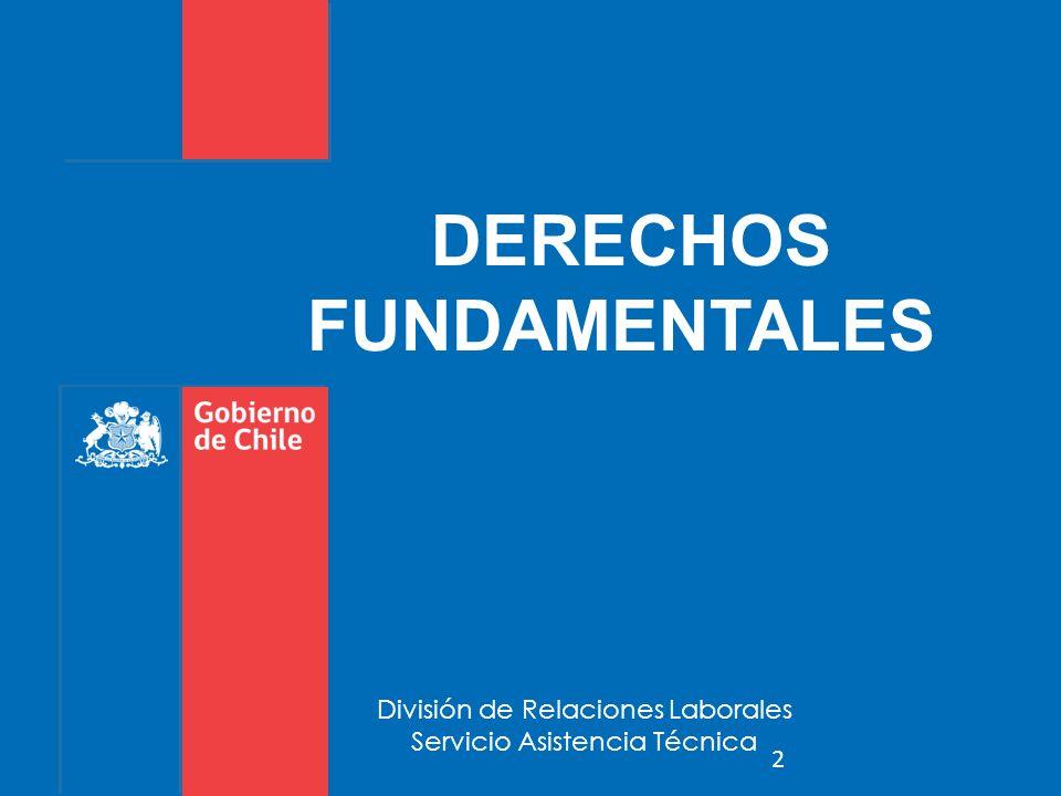 División de Relaciones Laborales Servicio Asistencia Técnica DERECHOS FUNDAMENTALES 2
