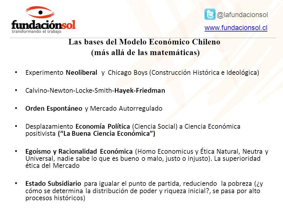 @lafundacionsol www.fundacionsol.clwww.fundacionsol.cl Nuevo sentido común (más cercano a un neodarwinismo social que al liberalismo).