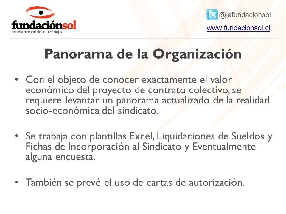 @lafundacionsol www.fundacionsol.clwww.fundacionsol.cl Panorama de la Organización Con el objeto de conocer exactamente el valor económico del proyect