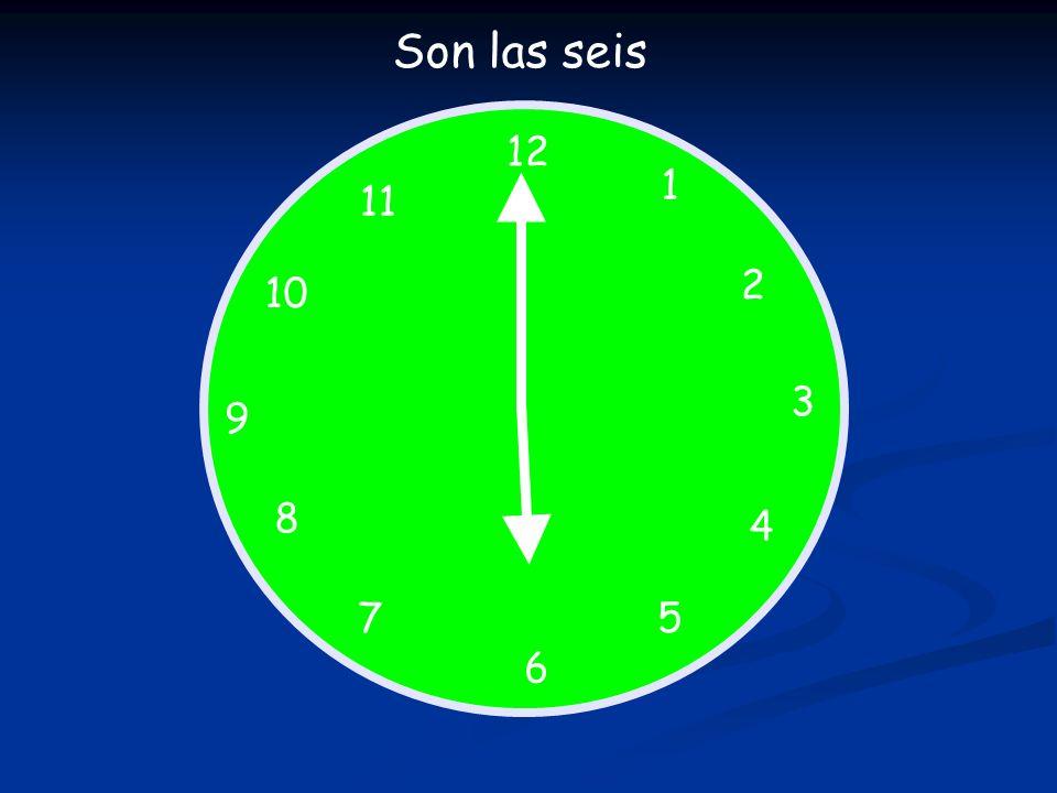 12 1 5 4 9 3 6 10 11 2 7 8 Qué hora es.