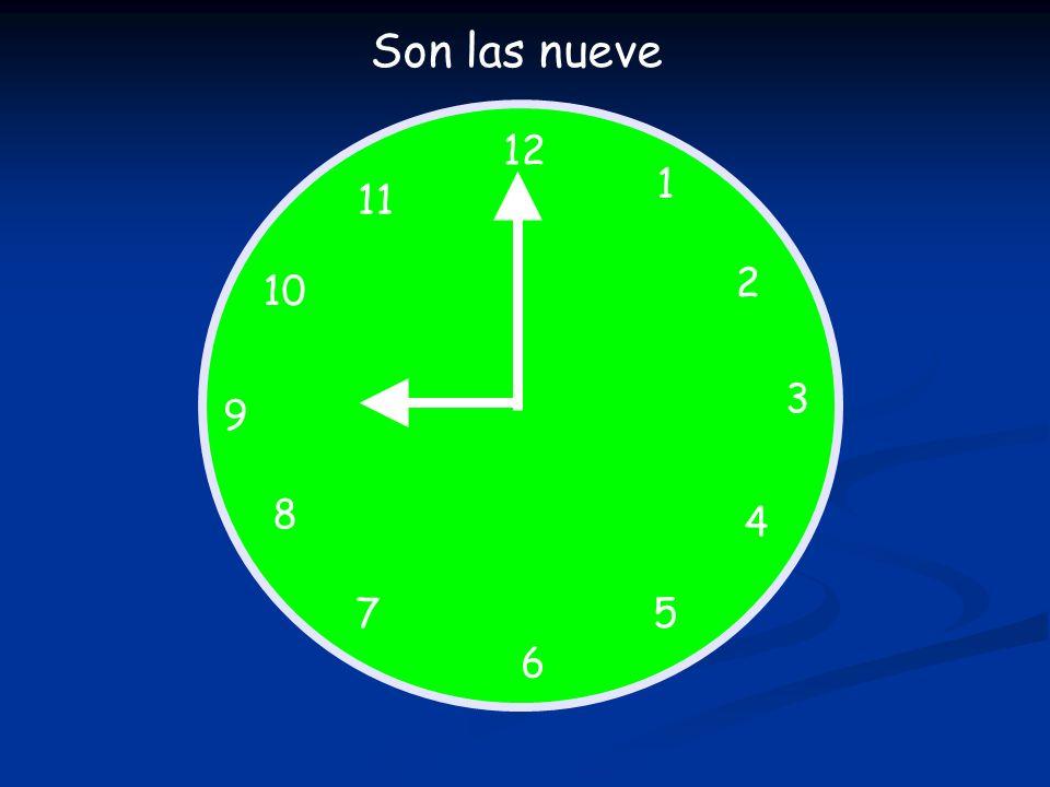 12 1 5 4 9 3 6 10 11 2 7 8 Qué hora es .