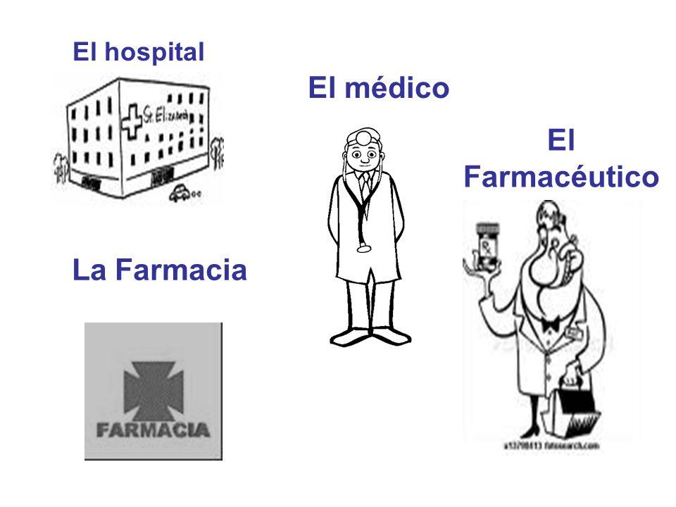 El hospital La Farmacia El médico El Farmacéutico