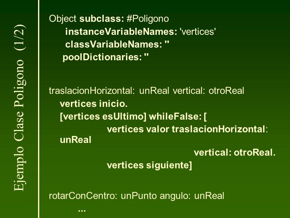 Object subclass: #Poligono instanceVariableNames: 'vertices' classVariableNames: '' poolDictionaries: '' traslacionHorizontal: unReal vertical: otroRe