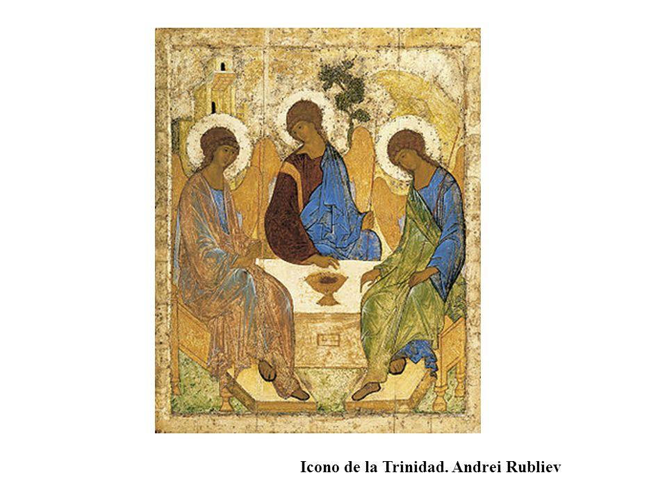 Icono de la Trinidad. Andrei Rubliev