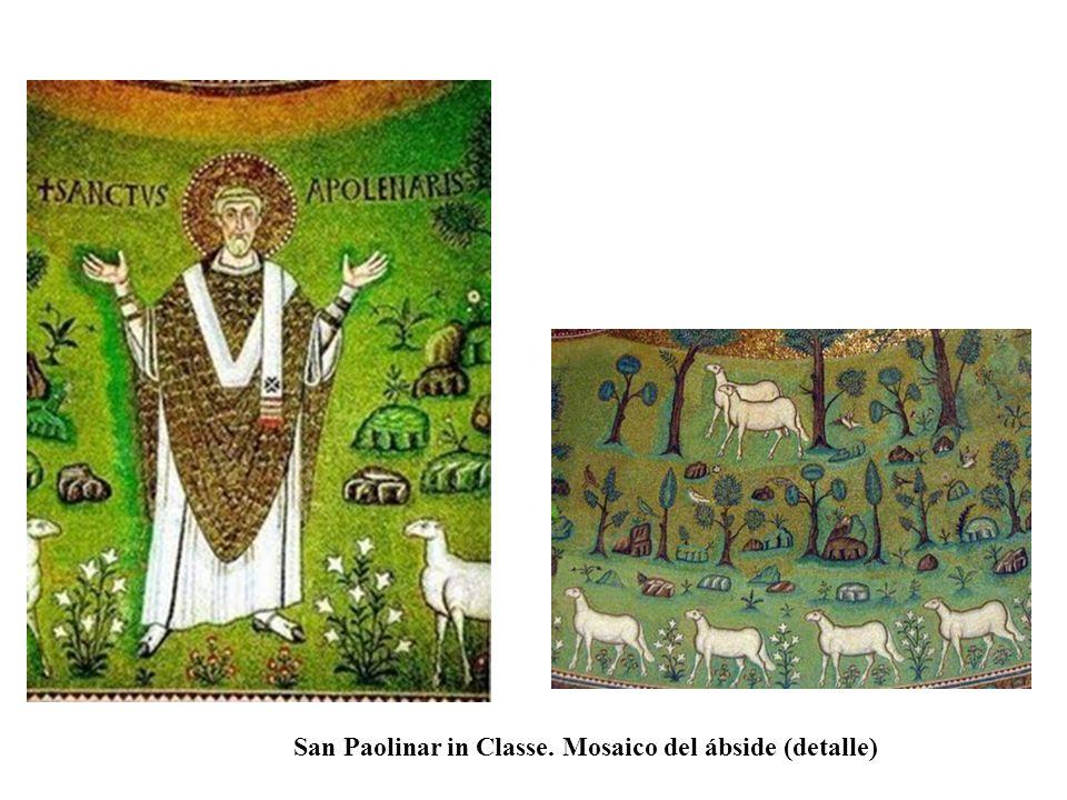 San Paolinar in Classe. Mosaico del ábside (detalle)
