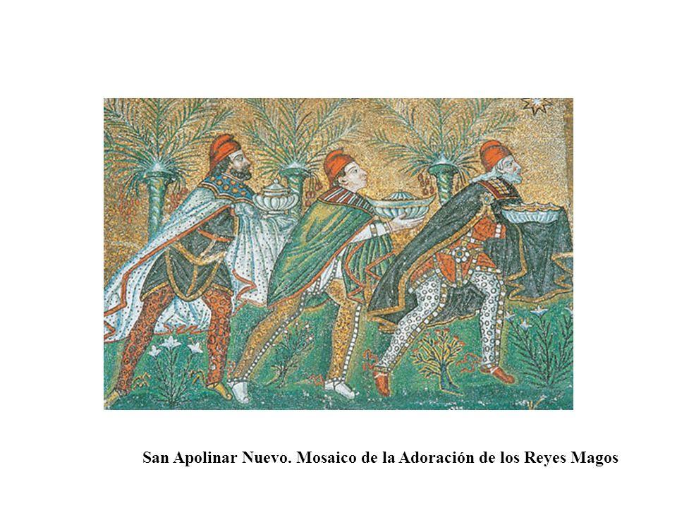 San Apolinar Nuevo. Mosaico de la Adoración de los Reyes Magos