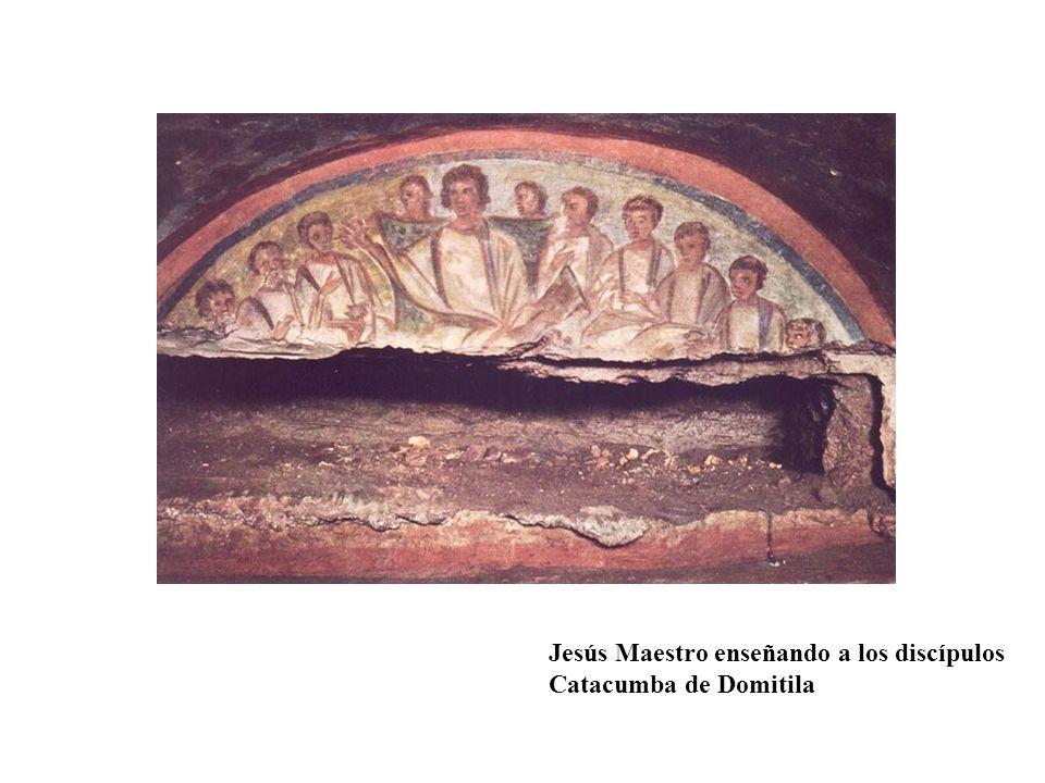 Jesús Maestro enseñando a los discípulos Catacumba de Domitila