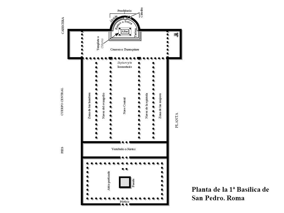 Planta de la 1ª Basílica de San Pedro. Roma