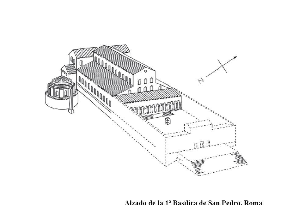 Alzado de la 1ª Basílica de San Pedro. Roma