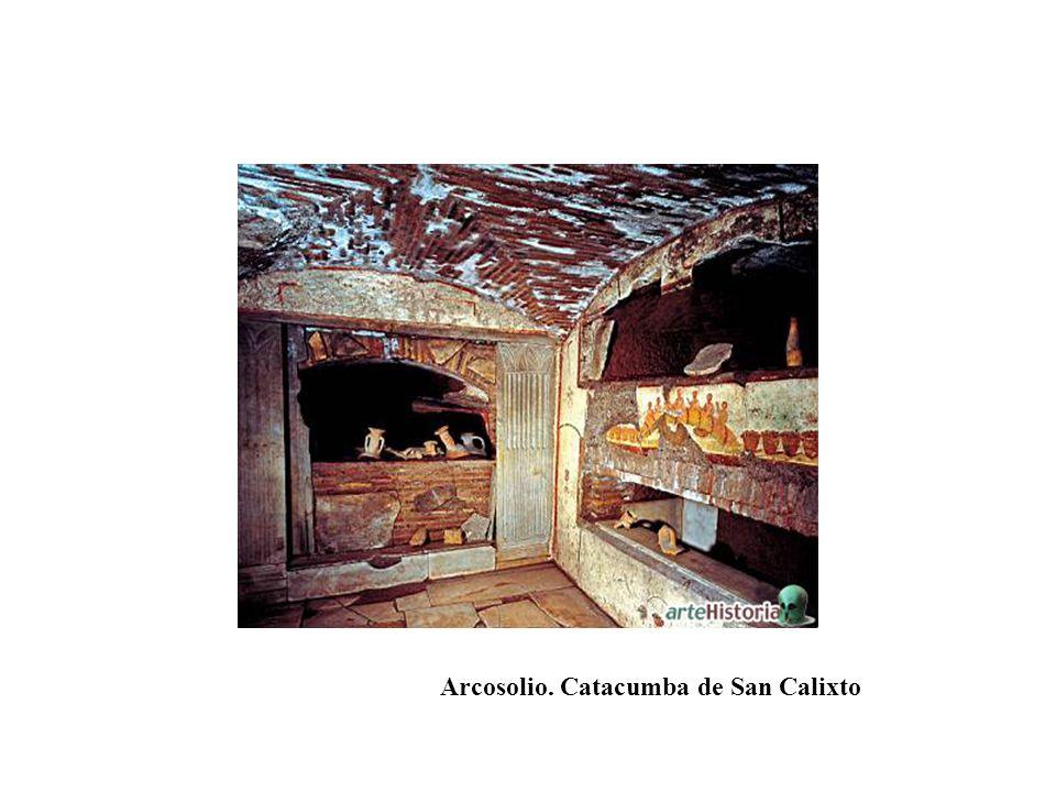 Arcosolio. Catacumba de San Calixto