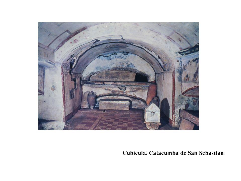 Cubicula. Catacumba de San Sebastián