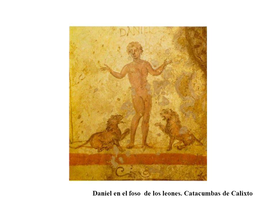 Daniel en el foso de los leones. Catacumbas de Calixto