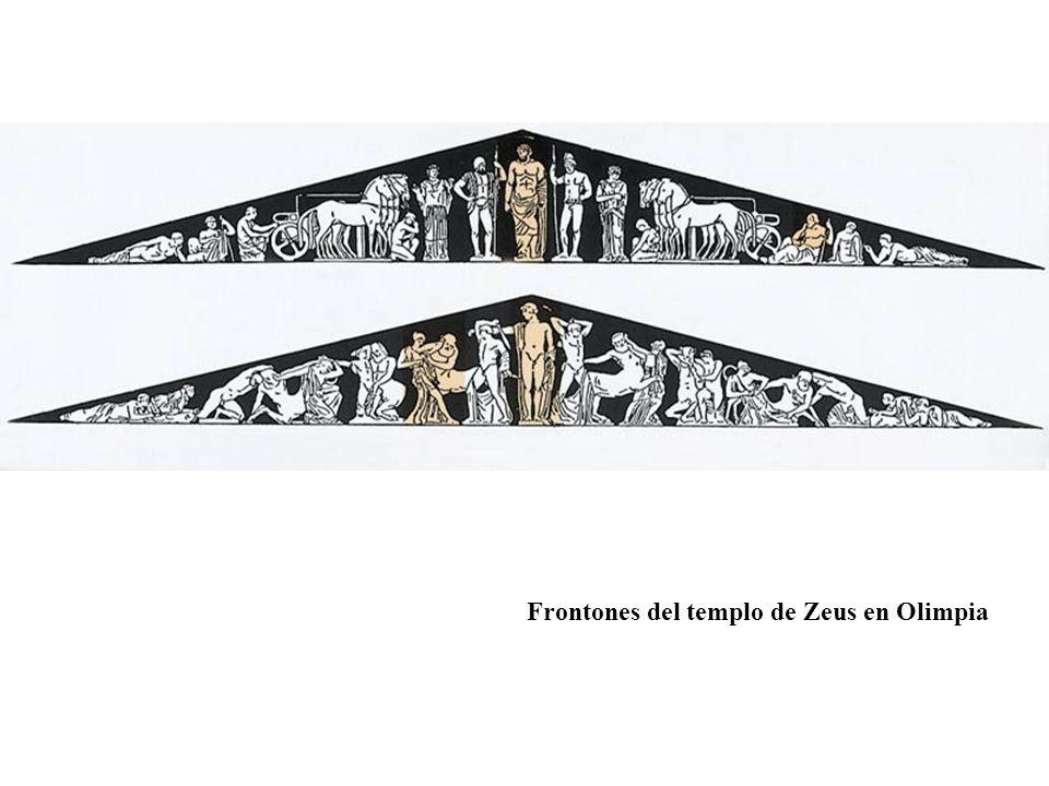 Frontones del templo de Zeus en Olimpia