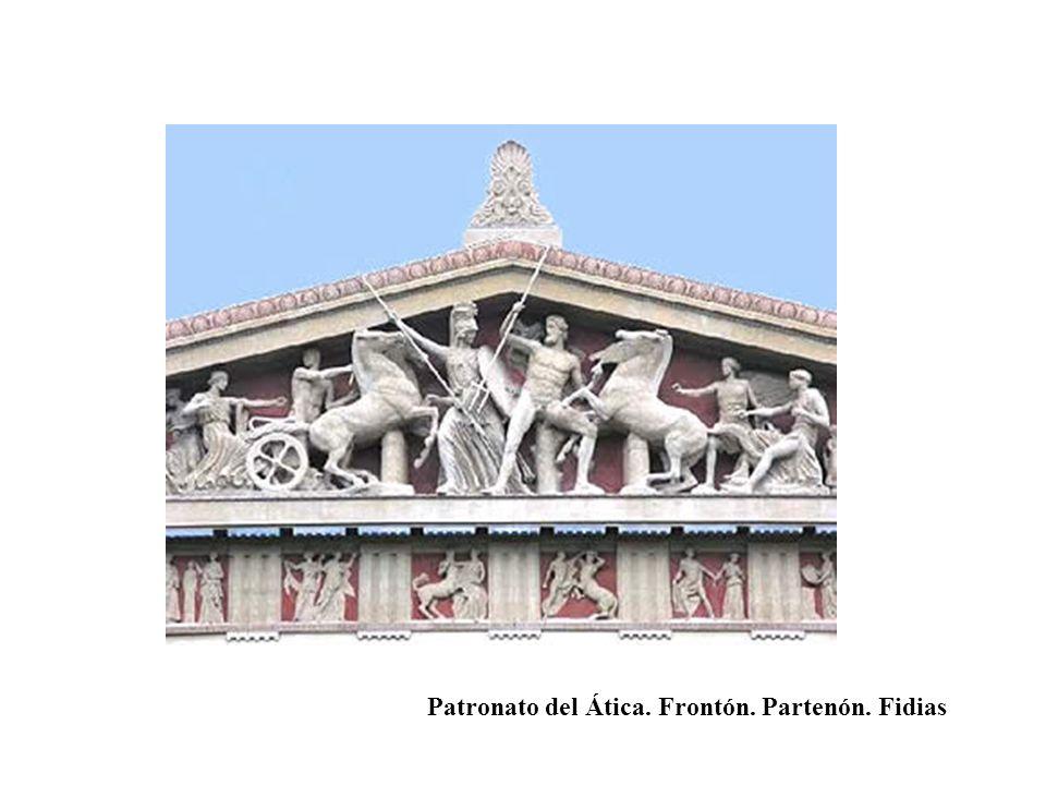 Patronato del Ática. Frontón. Partenón. Fidias