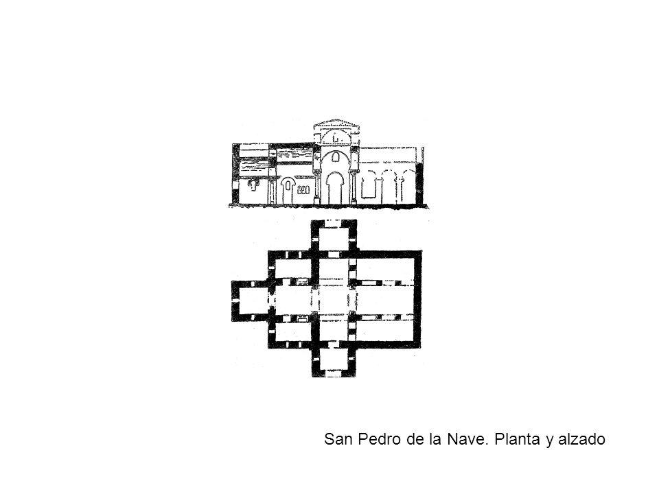 San Pedro de la Nave. Planta y alzado