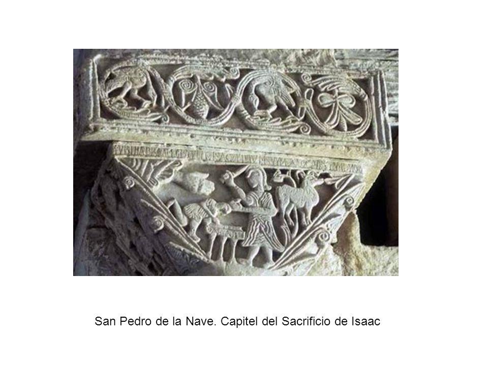 San Pedro de la Nave. Capitel del Sacrificio de Isaac