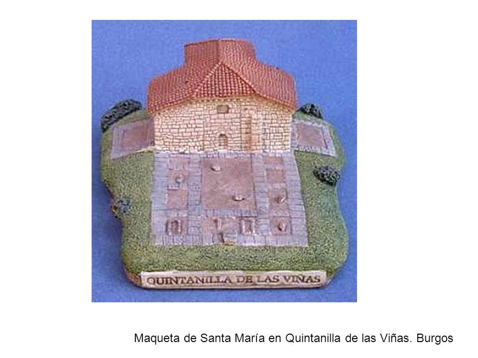 Maqueta de Santa María en Quintanilla de las Viñas. Burgos