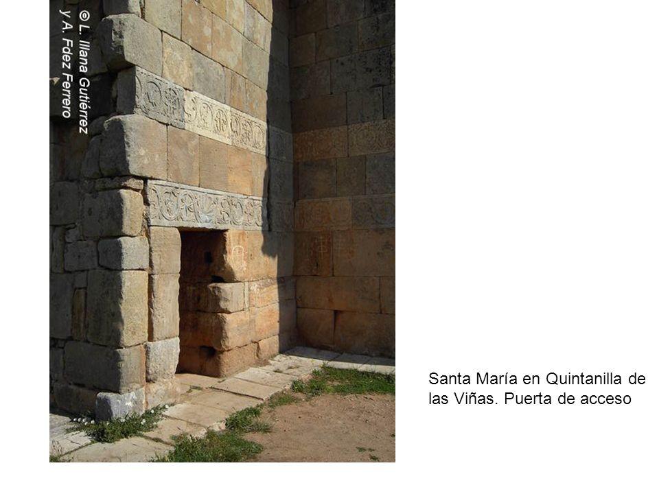 Santa María en Quintanilla de las Viñas. Puerta de acceso