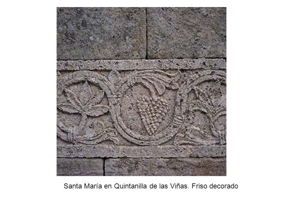 Santa María en Quintanilla de las Viñas. Friso decorado