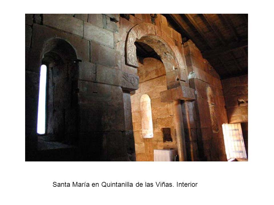 Santa María en Quintanilla de las Viñas. Interior